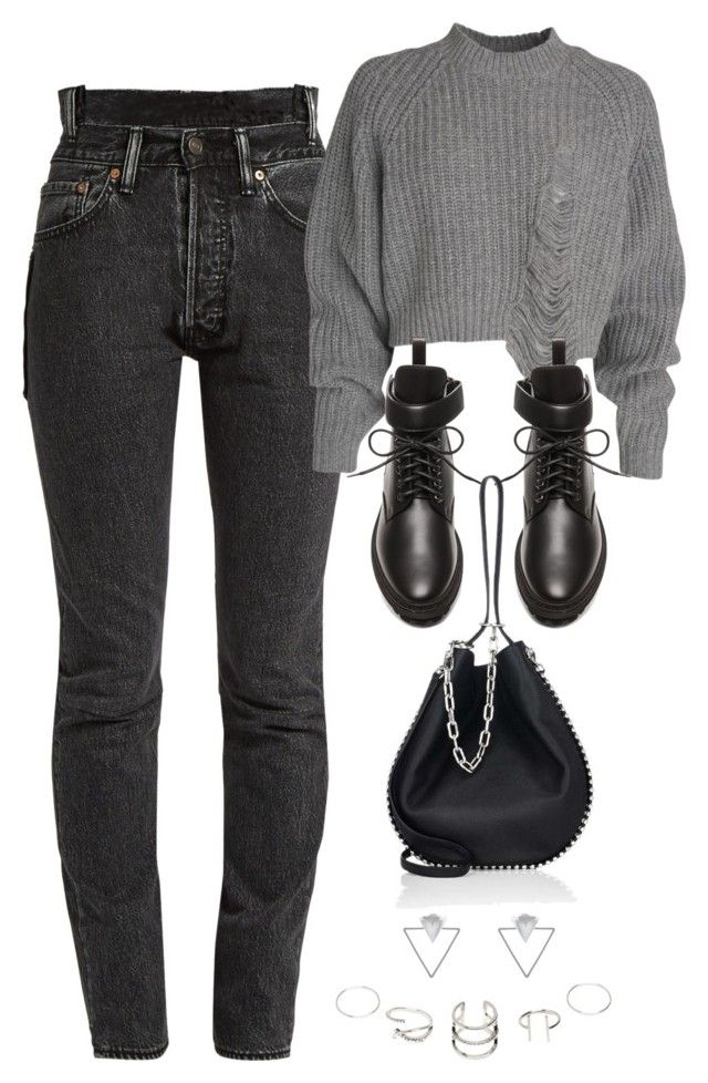 """Untitled #10986"" by katgorostiza ❤ liked on Polyvore featuring Vetements, Balenciaga, Alexander Wang and Eloquii"