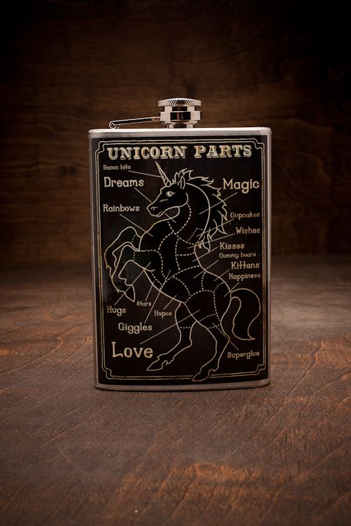 Trixie & Milo Unicorn Parts Flask