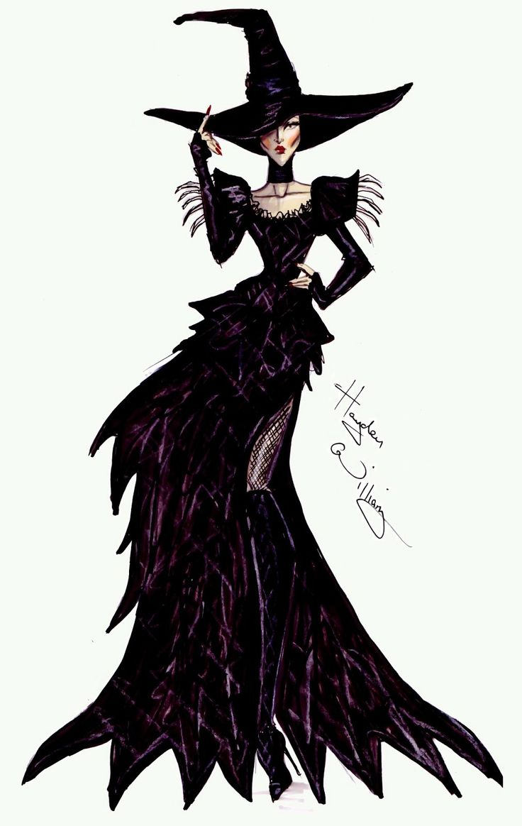 #Hayden Williams Fashion Illustrations #Disney's 'Oz' by Hayden Williams - Wicked Witch of the West