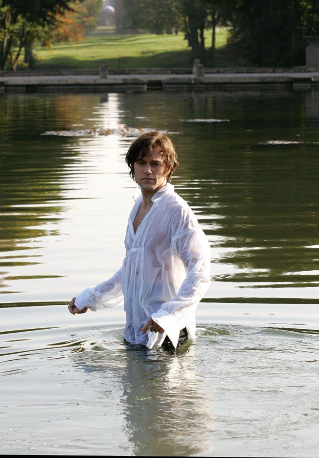 The lake scene relived... :) Elliot Cowan as Fitzwilliam Darcy in Lost in Austen.