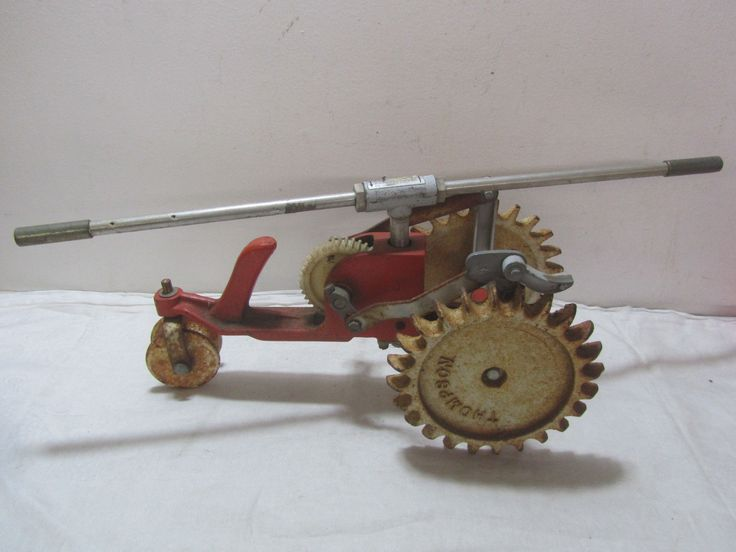 Vintage Industrial Grade Thompson Traveling Cast Iron Lawn Sprinkler Tractor. | eBay
