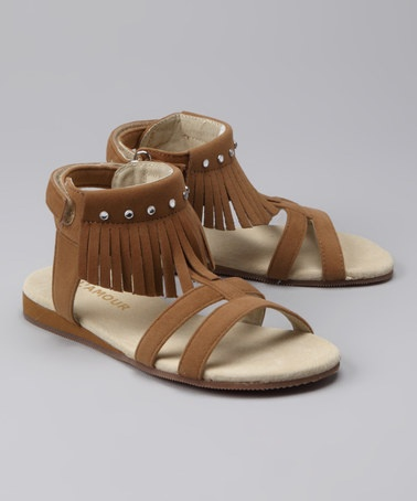 Take a look at this Sand Fringe Sandal by LAmour Shoes on #zulily today!
