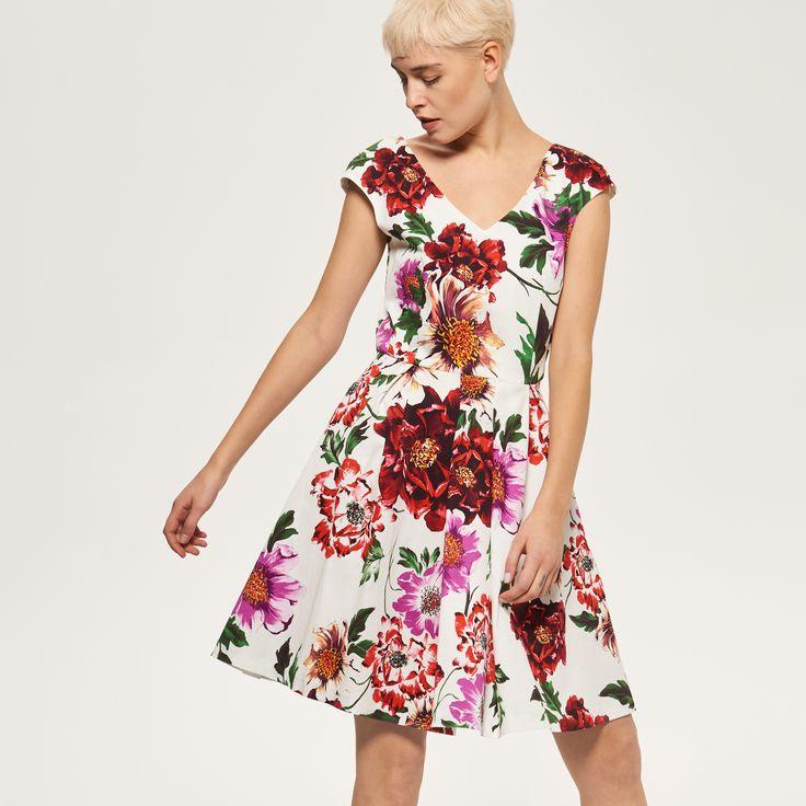 Sukienka w kwiaty, RESERVED, RC685-MLC