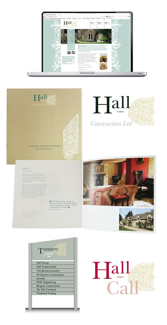 Hall Group web and print promotional designs