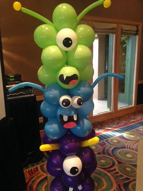 Monster themed 8 foot column