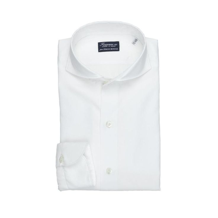 White Shirts:  A lovely hybrid of formal and free signer Finamore x Frans Boone. A white shirt with full spread collar but with a casual feel.