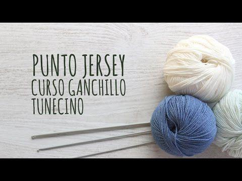 Curso Básico Crochet o Ganchillo Tunecino: Parte 6 Punto Jersey, My Crafts and DIY Projects