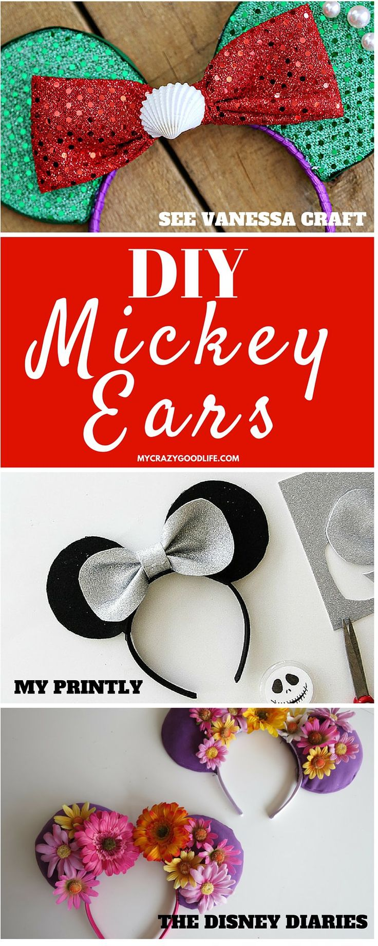 These DIY Mickey Ears tutorials will have you and your family park ready in no…