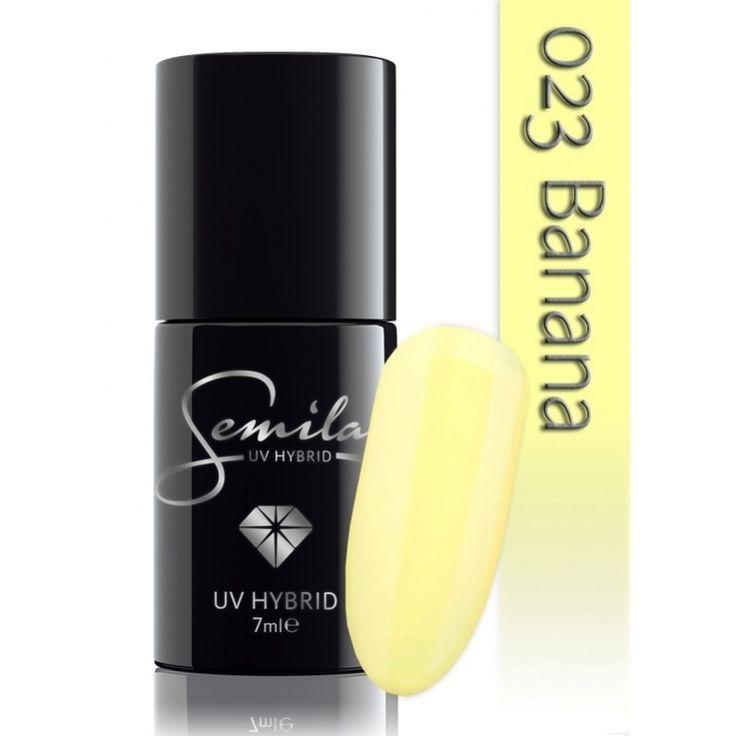 Ημιμόνιμο μανό Semilac - 023 Banana 7ml - Semilac   Προϊόντα Μανικιούρ - Πεντικιούρ Semilac & Ημιμόνιμα.