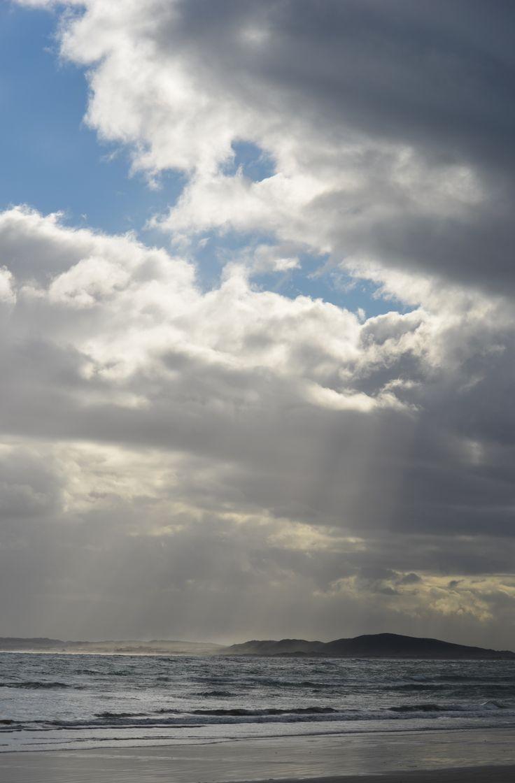 Late afternoon winter clouds at Strand beach - Helderberg  - Cape Town #winter #strandbeach #capetown #Strand