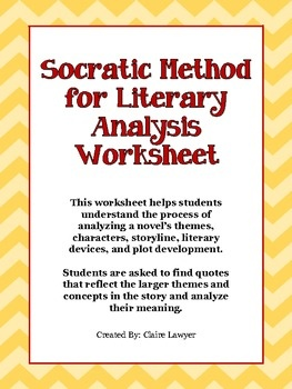 This worksheet can be used with any novel or piece of literature that is a progressive story with complex characters and themes. The purpose of this worksheet is to help students look beyond the superficial concepts and delve deeper into the meaning of the story. Use this worksheet with novels that require students to analyze characters, their relationships, and important quotations.