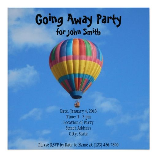 Invitation Farewell Party with awesome invitations layout