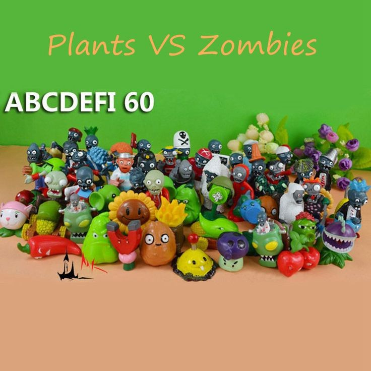 (62.20$)  Watch more here  - 60pcs/set Plants VS Zombies PVZ Collection Figures All The Plants & Zombies Figures OPP Retail Package