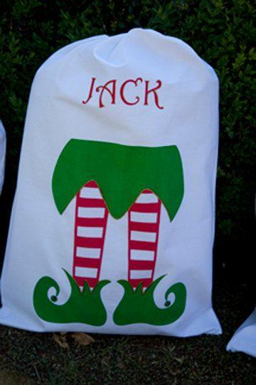 Personalised Santa Sacks / Christmas Stockings in 4 designs. $39.00, via Etsy.