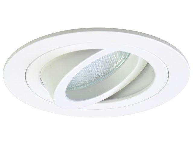 Set: Einbauspot Modena weiß, rund, vertieft, schwenkbar + GU10 LED Spot Sirius SMD 5W dimmbar