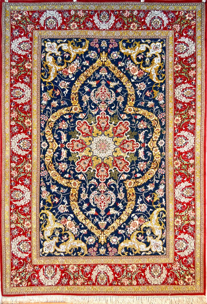Isfahan Slimi Silk Persian Rug You Pay: $4,300.00 Retail Price: $7,900.00  You Save:
