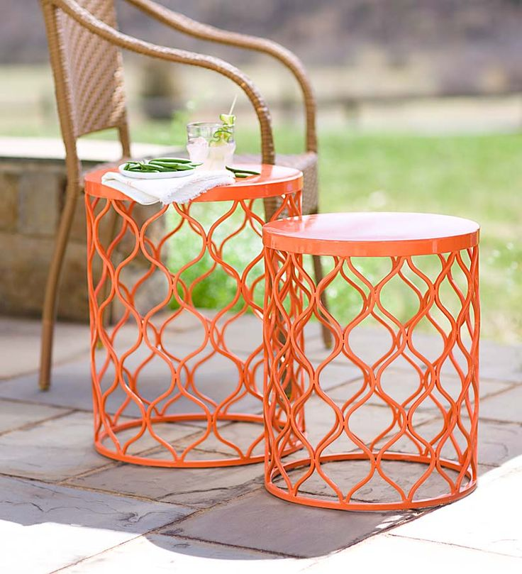 Colorful Metal Nesting Tables Add A Fun Punch Of Color And