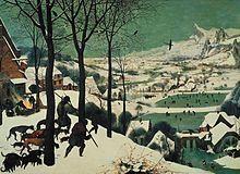 Pieter Brueghel l'Ancien chasseurs dans la neige
