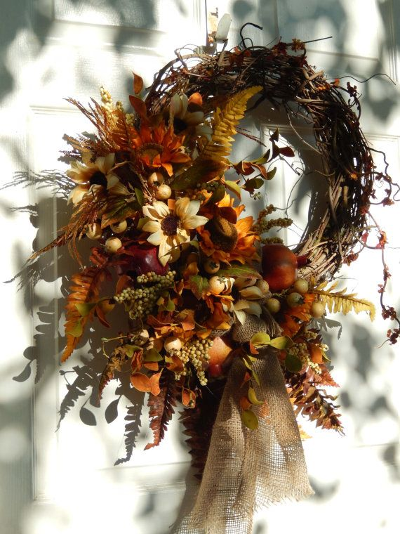 Fall Wreath Autumn Wreath Wreath For The Door by forevermore1, $115.00