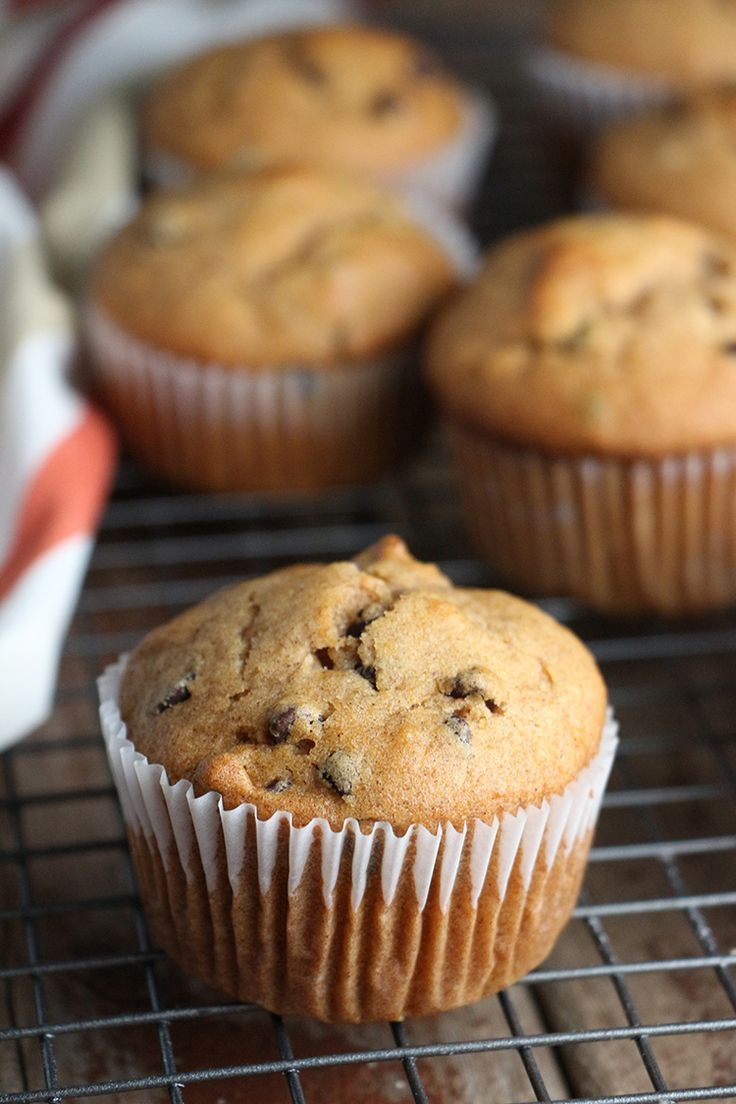Mom's Pumpkin Chocolate Chip Muffins get a modern make-over, now only 203 calories!