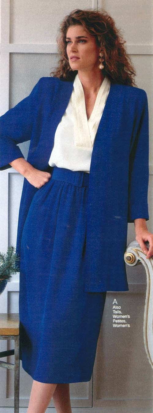 Women's Fashion from a 1990 catalog #1990s #fashion #vintage