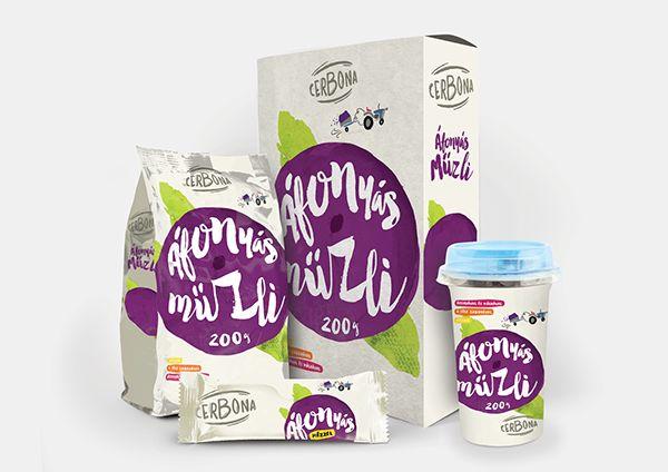 Cereal packaging colorful illustrative design