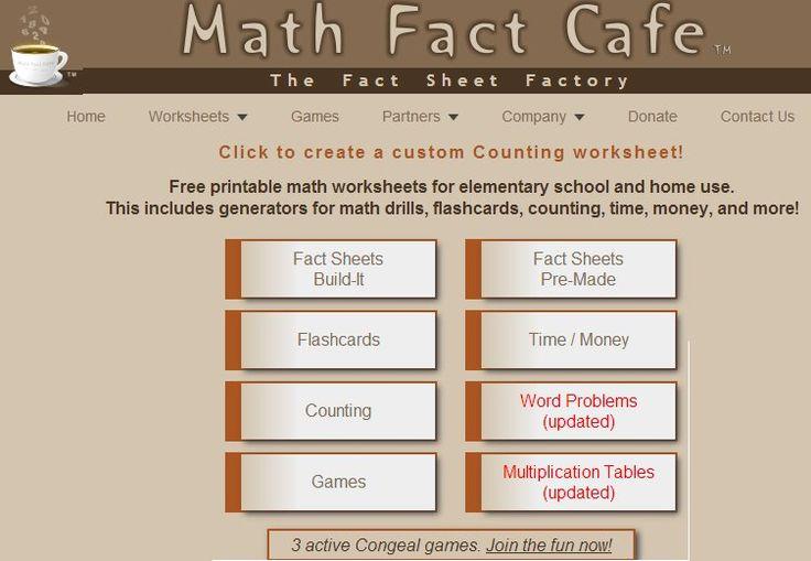 Math Fact Cafe