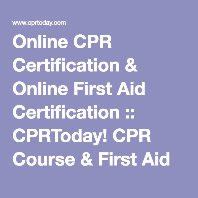 The  Best First Aid Certification Online Ideas On