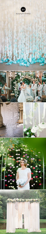 DIY wedding paper backdrops decoration ideas
