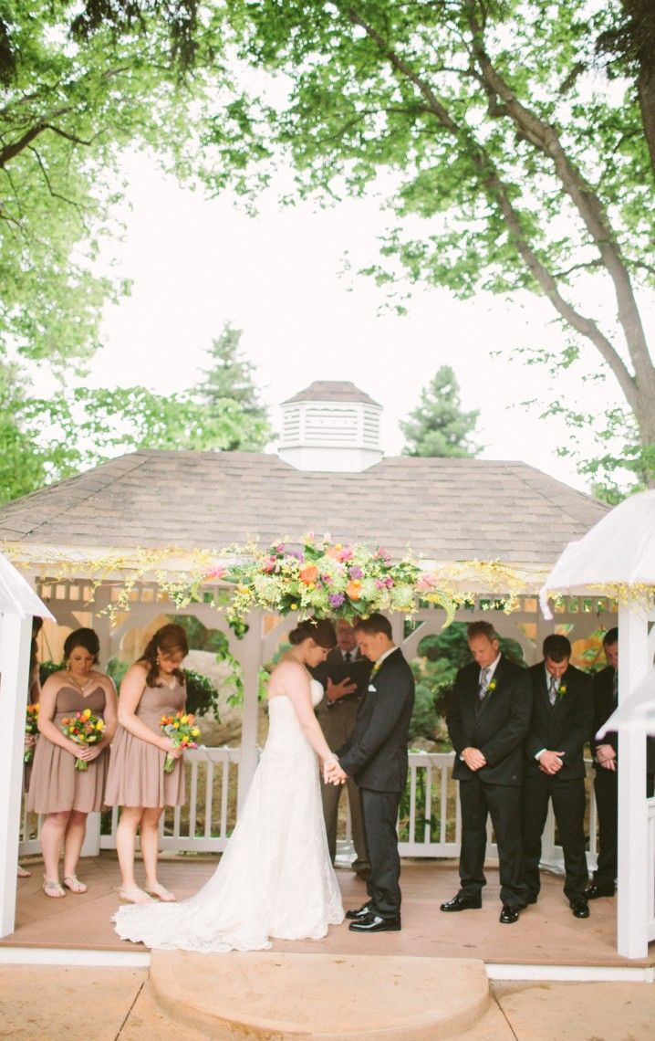 Praying Together Before Their Ceremony In May   Tapestry House Wedding U0026  Event Center   Photo