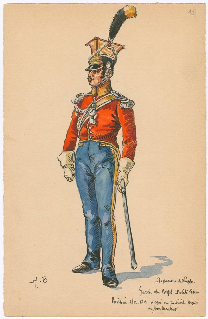 Naples; Garde du Corps, Petite Tenue, 1812-13