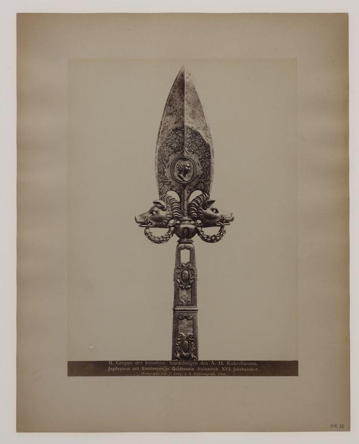 Grot partyzany z XVI w. ze zbiorów Kunsthistorisches Museum w Wiedniu, fot. Josef Lowy, XIX w.