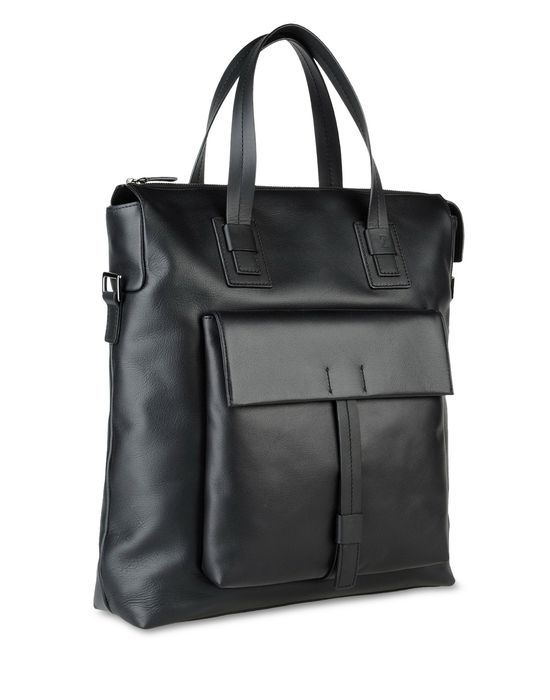 Travel bag Men - Bags Men on Zegna Online Store United States - Tote bag with zipped clousure, external front pocket, zipped intenal pockets and adjustable shoulder. L36 x H37 x W10 cm.