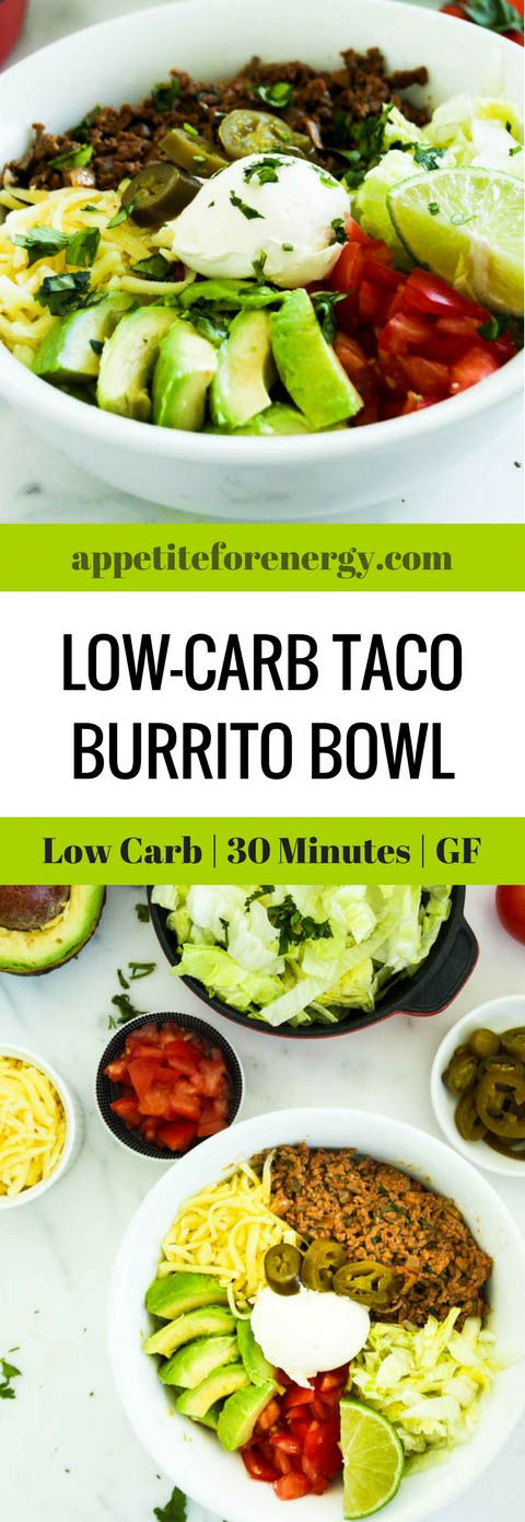 Burritos or tacos are an excellent choice if the rest of your family eat carbs.They are ready in 30 minutes with only 10g net carbs per serve. Ketogenic taco recipe | Keto diet recipes | 30 Minute low-carb recipe |Taco Tuesday | Atkins Diet| Banting | Beef Tacos | Gluten-Free Tacos | Low-carb burrito bowl #ketogenicrecipes #lowcarbdiet #ketodiet #tacobowl
