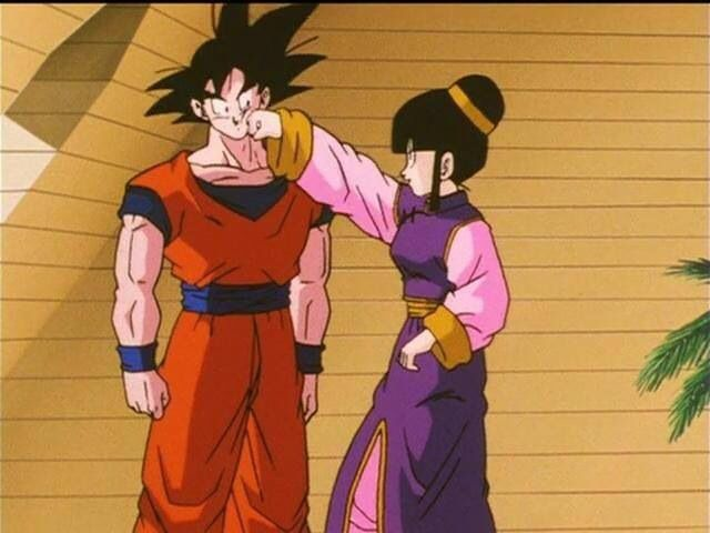 Chichi and goku are so adorable even though she's crazy lol
