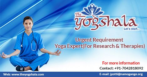Namo Gange Namaskar!!! The Yogshala has urgent requirement for Yoga Expert (Research & Therapies, Male or Female). For more information contact us at: +91-7042818092 or you can send your updated resume at: jyotti@namogange.org. For further information visit us: http://www.theyogshala.com/career.php #TheYogshala #YogaJobs #DelhiNCRYogaVacancies #YogaTherapistJobs #YogaOpenings