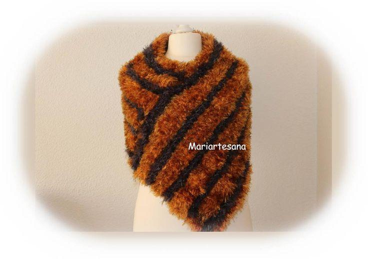 Estola con lana Caricia Vison