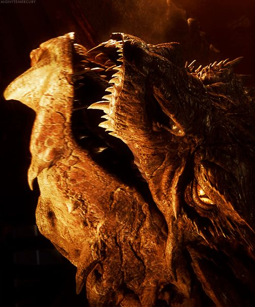 """Smaug """"It does not do to leave a live dragon out of your calculations, if you live near him.""""  ― J.R.R. Tolkien, The Hobbit"""