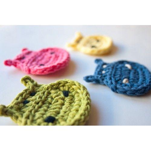 Hippo Applique Crochet