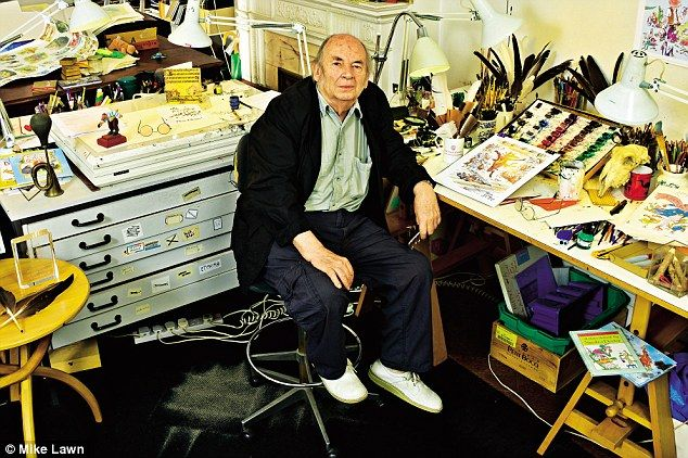'He was much fiercer and more badly behaved than me and I would never have drawn such an exaggerated character (The Enormous Crocodile) without his influence,' said Quentin Blake of Roald Dahl