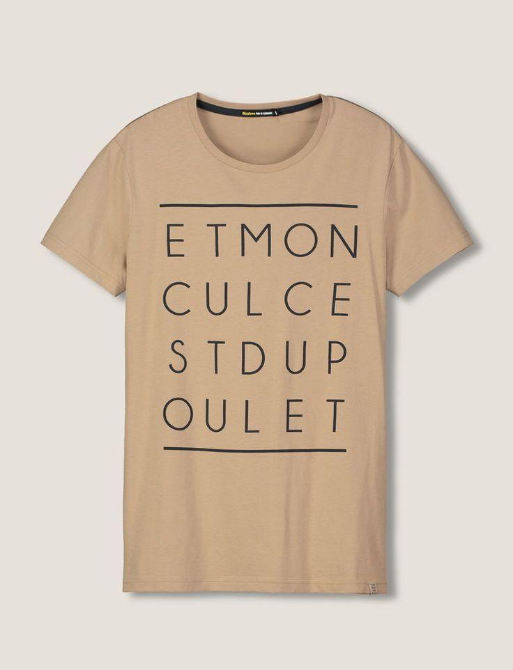 T-shirt message graphique