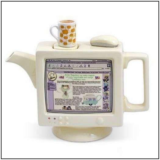 Incredibly-Unusual-and-Creative-Teapots-24: Tea Time, Computers, Things Tea, Tea Kettle, Teas, Tea Pots, Computer Teapot, Designer Teapots, Teatime