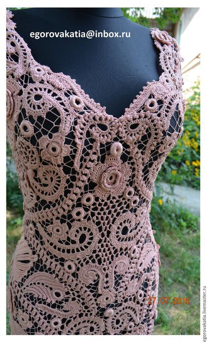 Купить или заказать платье 'Rose Quartz'- из коллекции 'французские кружева' в интернет-магазине на Ярмарке Мастеров. Платье из коллекции 'французские кружева' Очень красивое платье, вязано крючком из тонкой пряжи цвета пудры! Ирландское кружево полностью ручной работы, игольные бриды, сборка без швов. Выполненное из натуральных материалов, созданное тончайшим крючком и собранное иголкой вручную на манекене, без швов, с идеальной посадкой по фигуре!