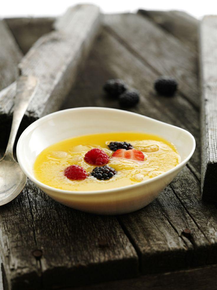 Valmista välipalaksi mehevää mangokeittoa! Reseptin saat tästä: http://www.dansukker.fi/fi/resepteja/kylma-mangokeitto-steviasokeria.aspx #herkku #herkuttelu #kevyt
