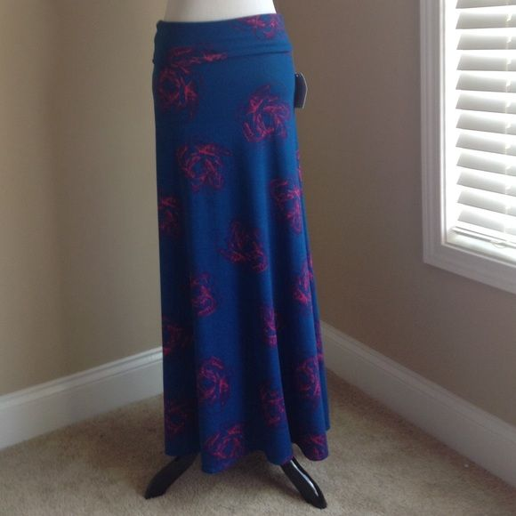 Lularoe maxi skirt, floral sun dress NWT Maxi skirt/sundress, floral magenta print, smoke free home, high low LuLaRoe Skirts Maxi