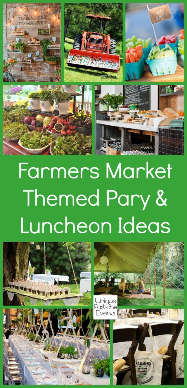 Farmers Market Themed Luncheon Ideas #IdeaBoard #InspirationBoard