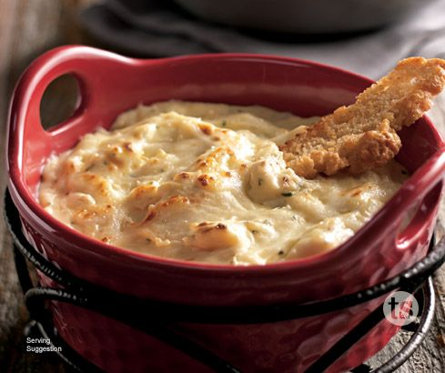 Melty, gooey goodness - Asiago Alfredo Warm Dip Mix is so delicious and creamy!