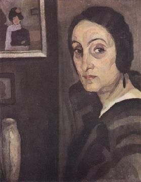 Retrato de Matilde Pereira, 1923 by Mario Eloy. Expressionism. portrait