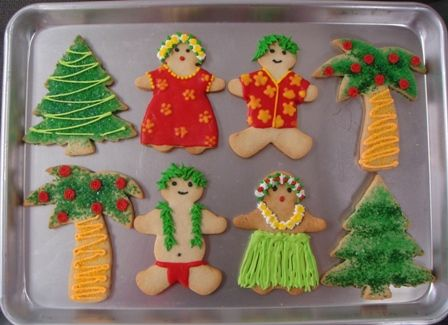 Tropical Christmas Party Ideas  -  Christmas cookies https://www.facebook.com/diplyofficial