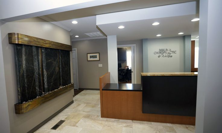 Office lobby water feature art chiropractic art for Dental office design 1500 square feet